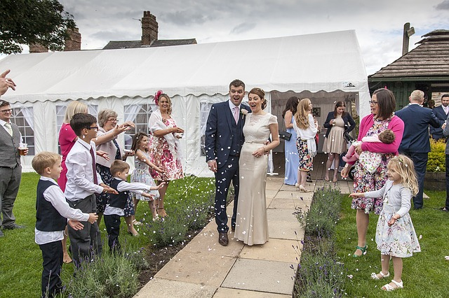venkovní svatební oslava
