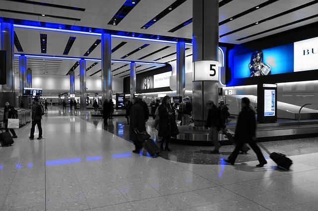 modré letiště