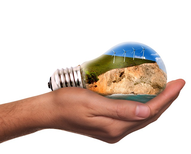 žárovka na dlani