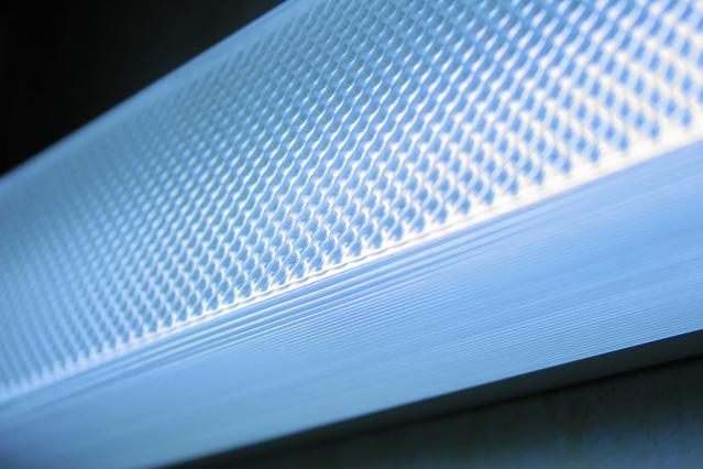 detail zářivky