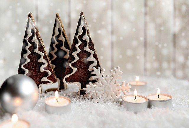 vánoční zasněžená krajina – dekorace