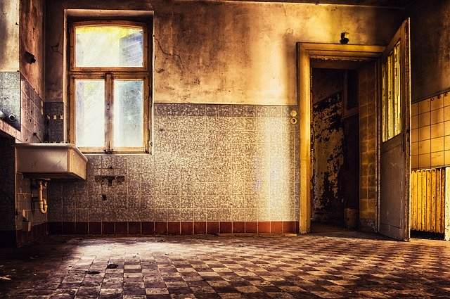 opuštěný starý byt